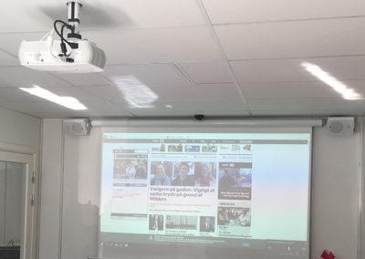 Mødelokale med projektor